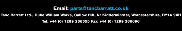 Tanc Barratt, Duke Williams Works, Callow Hill, Nr Kidderminster, Worcestershire, DY14 9XH